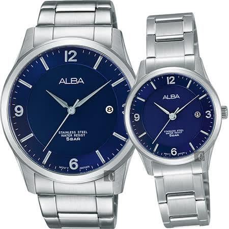 ALBA 時尚東京限定石英對錶-藍/40+28mm VJ42-X204B+VJ22-X242B(AS9C23X1+AH7L77X1)
