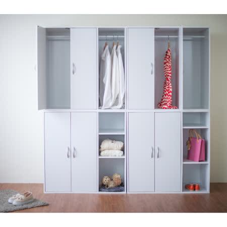 Hopma-二門組合式附吊衣桿衣櫃/衣櫥(兩款任選)