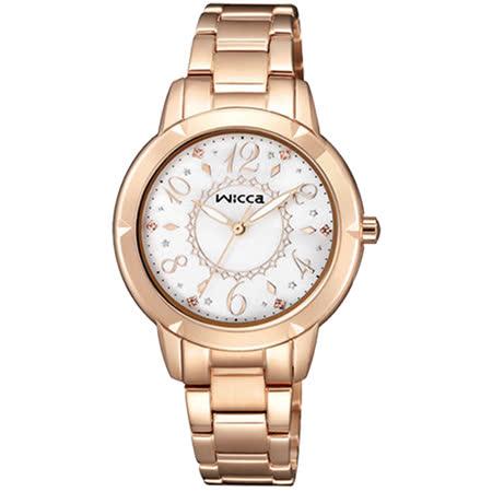 【CITIZEN 星辰】WICCA 魔幻夢境玫瑰金時尚腕錶(32mm/BT2-769-91)