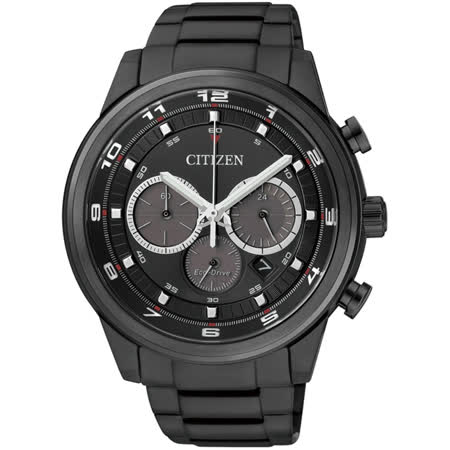 CITIZEN Eco-Drive 英倫時尚時計IP黑男錶(CA4035-57E)