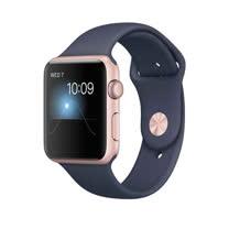 Apple Watch Series 2 智慧型手錶 (42mm) /A 42公釐 玫瑰金色鋁金屬錶殼搭配午夜藍色運動型錶帶