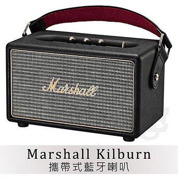 Marshall Kilburn 搖滾重低音 攜帶式 藍牙喇叭 藍牙音箱 音響 主動式喇叭【黑色】