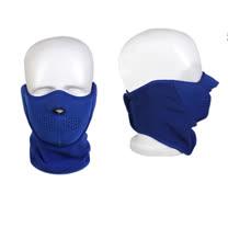 PUSH!自行車用品 防風型自行車圍脖護臉雙用面罩H18-3深藍