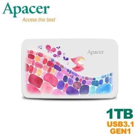 Apacer宇瞻 AC233 1TB 克里斯多聯名款行動硬碟+加送限量包包