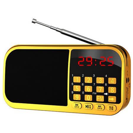 EARISE K300 便攜式雙插卡FM收音機迷你音箱(黃金限定版)