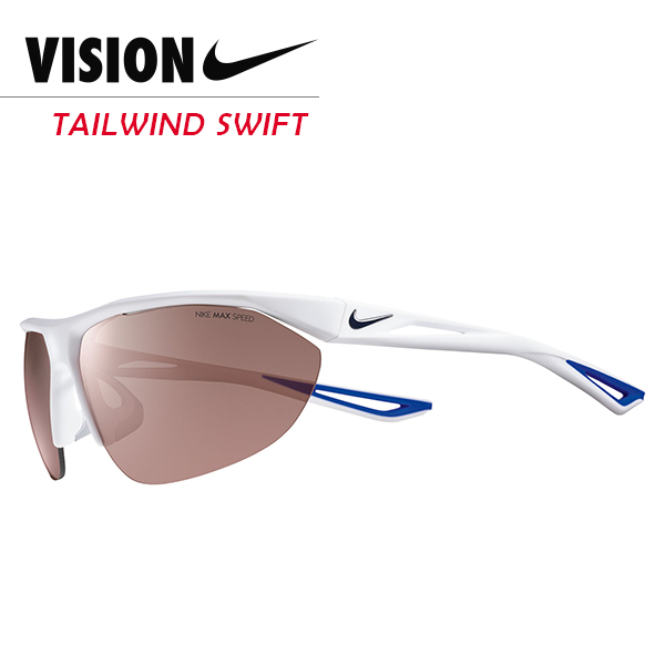 NIKE TAILWIND SWIFT 競速運動太陽眼鏡 白/藍