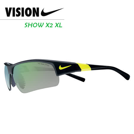 NIKE SHOW X2 XL 多功能運動太陽眼鏡 黑/黃