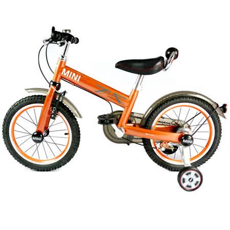 英國Mini Cooper 兒童腳踏車16吋-競速橘