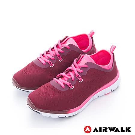 AIRWALK(女)  - SOCKIN 雙層襪感心機輕量慢跑鞋 - 膚感紅