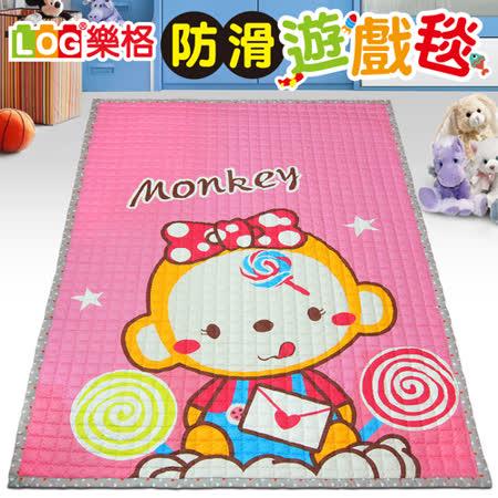 【LOG樂格】防滑遊戲毯 -甜蜜的小猴 (200x150cmx厚1.5cm) 爬行墊/野餐墊/止滑墊/保潔墊