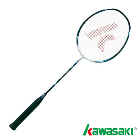 【KAWASAKI】KBD716高鋼性碳纖維羽球拍(黑/藍)