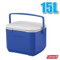【美國 Coleman】EXCURSION 海洋藍冰箱 15L.高效能行動冰箱.保冷保冰箱.冰筒.冰桶.置物箱.保鮮桶/CM-27859