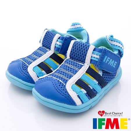 IFME健康機能鞋-透氣速乾款-601266藍(寶寶段)-(13cm-13.5cm)