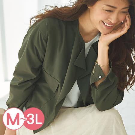 日本Portcros 預購-時尚軍裝風短版薄外套(共三色/M-3L)