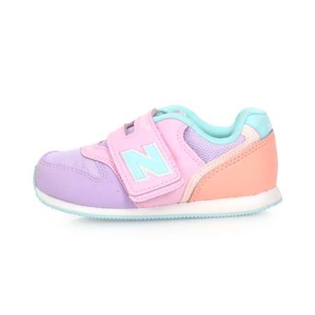 (童) NEWBALANCE 996系列 男女兒復古慢跑鞋-魔鬼氈 NB N字鞋 粉紫橘