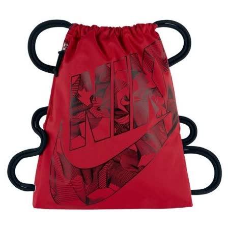 【Nike】2017時尚標誌健身紅色小束口後背包【預購】
