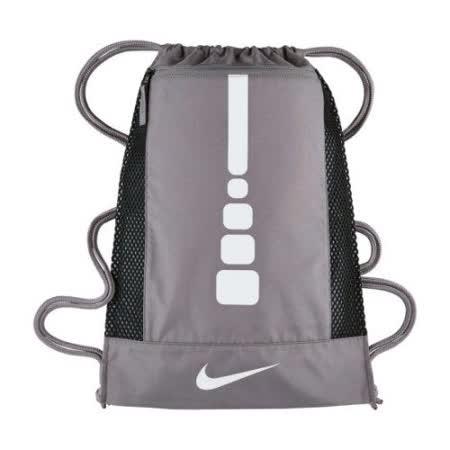 【Nike】2017時尚Hoops大健身灰色束口後背包【預購】
