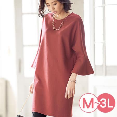 日本Portcros 預購-造型寬袖舒適長版上衣(共四色/M-3L)