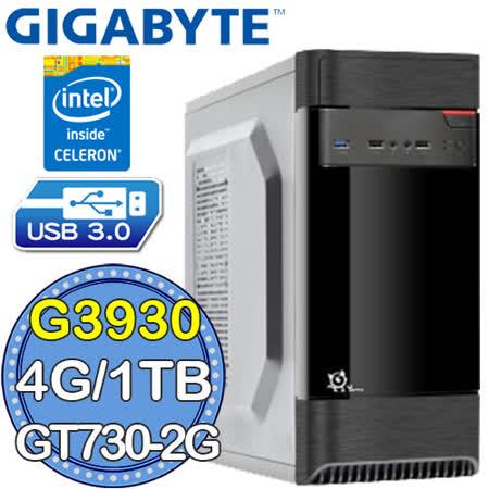 技嘉H110平台【沙漠兵長】Intel第七代G系列雙核 GT730-2G獨顯 1TB效能電腦