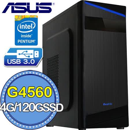 華碩H110平台【魔銀刀鋒】Intel第七代G系列雙核 SSD 120G效能電腦