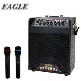 [促銷]【EAGLE 】行動藍芽肩帶式擴音音箱(ELS-2098B)-無線麥克風版 / 送原廠專業級UHF頻道無線麥克風*2