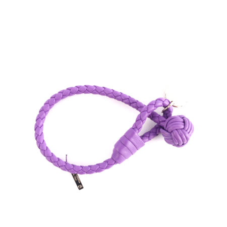 【BOTTEGA VENETA】小羊皮單圈編織手環 S (薰衣草紫)