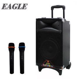 [促銷] EAGLE行動藍芽拉桿式擴音音箱(ELS-3008)-無線麥克風版 / 送原廠專業級UHF頻道無線麥克風*2