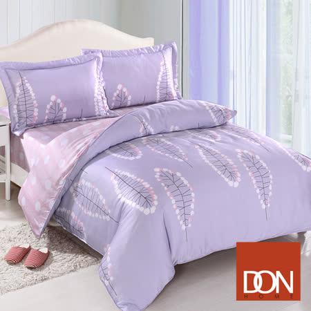 《DON綻放花都》 加大四件式天絲全舖棉兩用被床包組