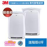 【團購二入組】3M 淨呼吸超濾淨型空氣清淨機 進階版-適用6坪(福利品)