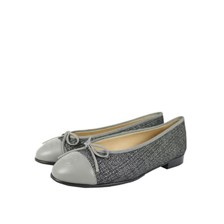 【CHANEL】軟尼 娃娃鞋(灰色)