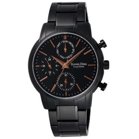 Roven Dino羅梵迪諾 指尖的調律三眼時尚腕錶-RD6063MB-396