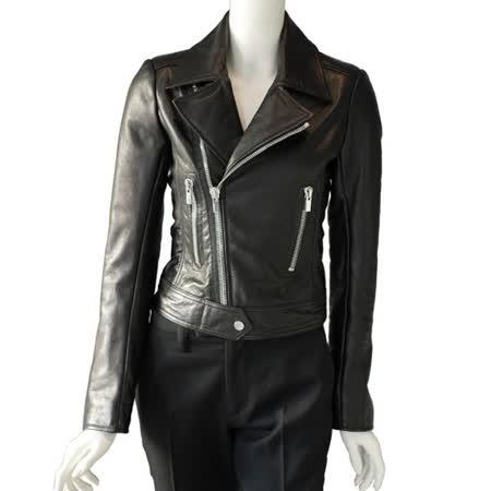 【BALENCIAGA】外皮夾克騎士風外套 (黑色)