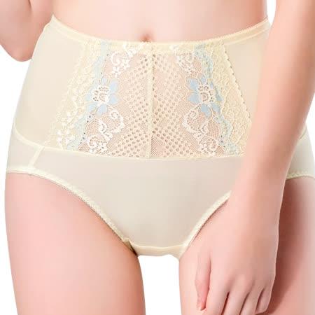 【思薇爾】柔挺美學系列M-XXL蕾絲高腰三角修飾褲(茴香黃)