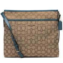 【COACH】立體馬車&鐵牌織布方形斜背包(5色)