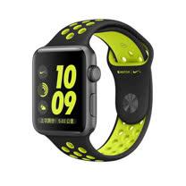 Apple Watch Series 2 智慧型手錶 (42mm) /A 42公釐 太空灰色鋁金屬錶殼搭黑色配螢光黃色 Nike 運動型錶帶 (MP0A2 TA/A)