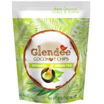 Glendee椰子脆片40g(綠茶口味)