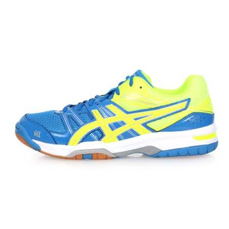 (男) ASICS GEL-ROCKET 7 排羽球鞋-羽球鞋 亞瑟士 藍螢光黃