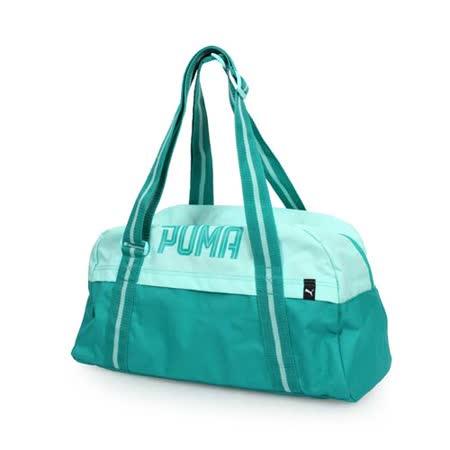 PUMA FUNDAMENTALS 運動袋-肩背包 側背 旅行 行李袋 手提袋 湖水綠 F