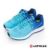 AIRWALK 女款 Moustacha 編帶透氣網紋運動鞋漸層藍