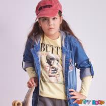 【Betty Boop貝蒂】印花貼鑽圓領長袖棉T(共三色)