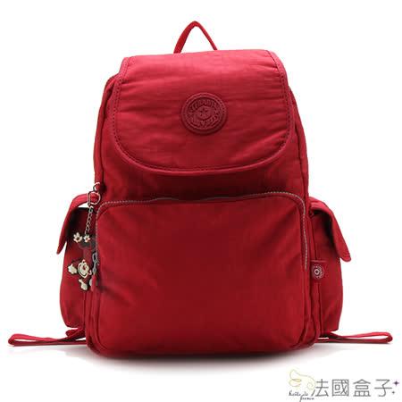 【法國盒子】完美旅行超輕量多層後背包(紅色)1506