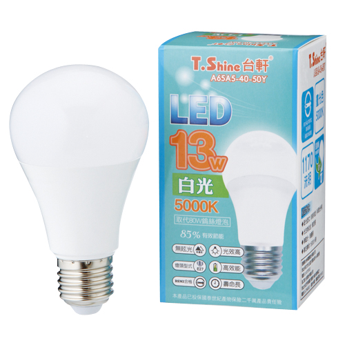 T.SHINE LED燈泡~白光^(13W^)