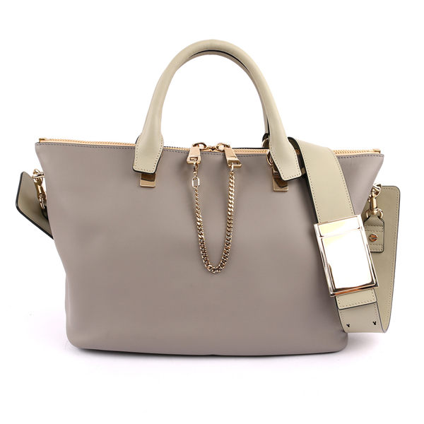 【CHLOE】Baylee Small two-tone tote 小牛皮 (羊毛灰色)