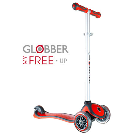 Globber哥輪步兒童2合1三輪滑板車-紅