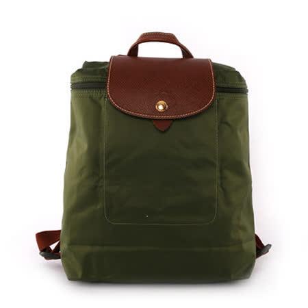 【LONGCHAMP】後背包 (卡其綠)
