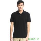 bossini男裝-純棉POLO衫01黑