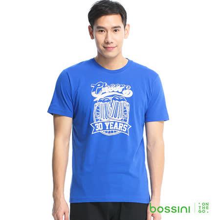 bossini男裝-印花短袖T恤01藍紫