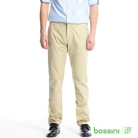 bossini男裝-彈性休閒褲01卡其