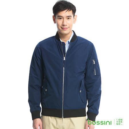 bossini男裝-MA-1飛行夾克01靛色