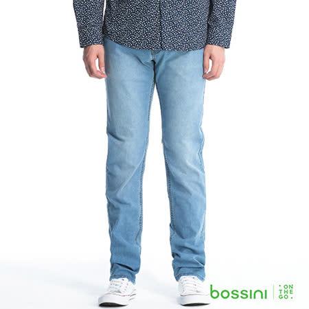 bossini男裝-彈性牛仔褲09靛藍